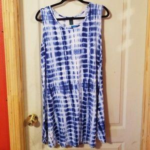 Tie dye dress 1x nwt